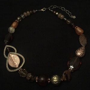 Ruby Rd Brown Decorative Beaded Necklace